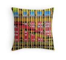Colored Beads? Do Not Be Deceived! Throw Pillow