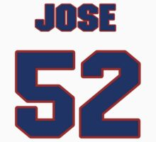 National baseball player Jose Cano jersey 52 by imsport