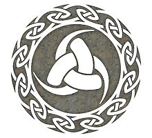 Triple Horn of Odin, Celtic Knot, Triforce, Odin Symbol Photographic Print
