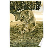 Hunting Lioness  Poster