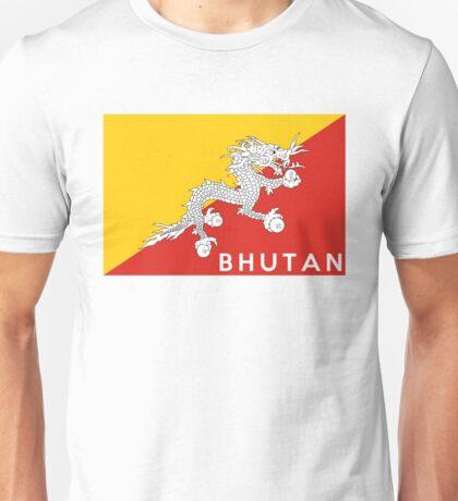 flag of bhutan Unisex T-Shirt