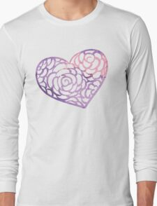 Heart from paper Valentines day card vector background Long Sleeve T-Shirt