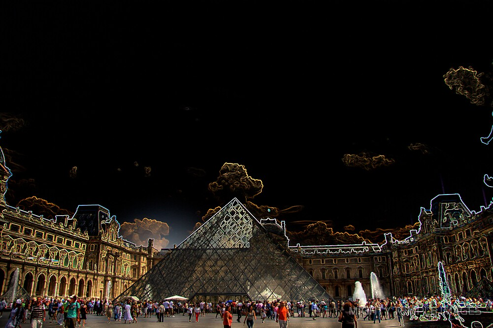 LOUVRE MATRIX by MIGHTY TEMPLE IMAGES