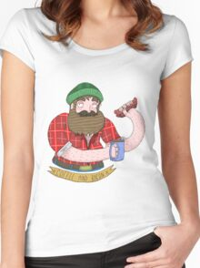 Coffee and Bacon Women's Fitted Scoop T-Shirt