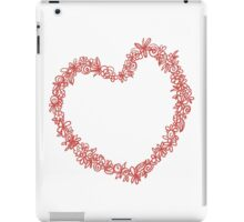 Heart from paper Valentines day card vector background iPad Case/Skin