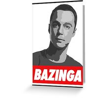 Dr. Sheldon Cooper - Bazinga Greeting Card