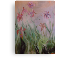 Monet inspired ireses in oils Canvas Print