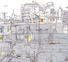 Beirut from a rooftop by Andy North