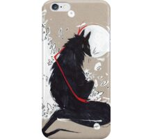 BLACK WOLF RIBBONS iPhone Case/Skin