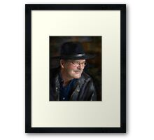 Black Hat Portrait Framed Print