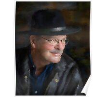 Black Hat Portrait Poster