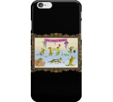 Pissed as a Newt (on dark) iPhone Case/Skin