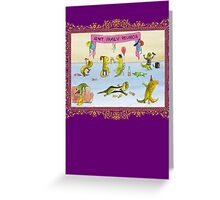 Pissed as a Newt (on dark) Greeting Card