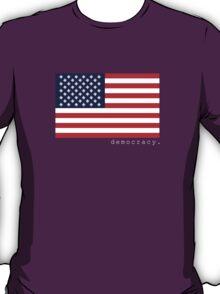 democracy flag black T-Shirt