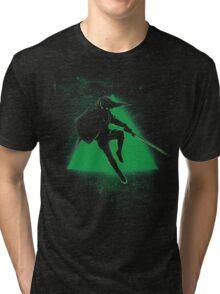 Silhouette Green Tri-blend T-Shirt