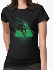 Silhouette Green Womens Fitted T-Shirt