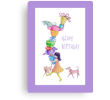 Gifts Girl Birthday Canvas Print