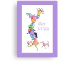 Gifts Girl Birthday Canvas Print
