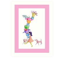 Gifts Girl Pink Art Print