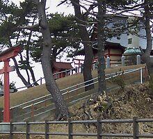 Torii gate to shrine  by icesrun
