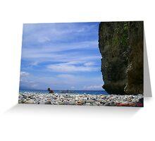 rock beach Greeting Card