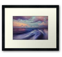 Sunset Wave. Maldives  Framed Print