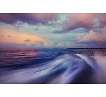 Sunset Wave. Maldives  Photographic Print