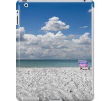 Chair on the beach iPad Case/Skin