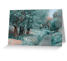 The Time Goes By. Nature in Alien Skin  Greeting Card