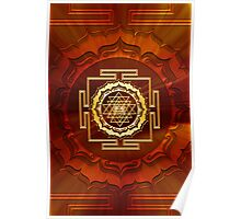 Shri Yantra, Cosmic Energy Conductor, Lotus Flower, Buddhism Poster