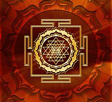 Shri Yantra, Cosmic Energy Conductor, Lotus Flower, Buddhism by nitty-gritty