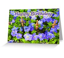 Purple Garden - Happy Birthday Greeting Card