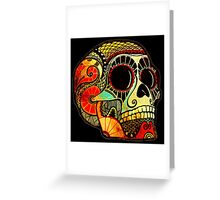 Grunge Skull Greeting Card