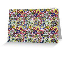 Floral Bonkers Greeting Card