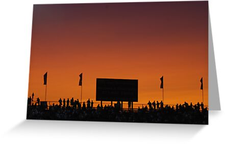 Sunset at the Races by Vonnie Murfin