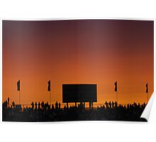 Sunset at the Races Poster
