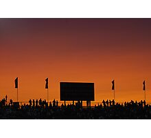 Sunset at the Races Photographic Print