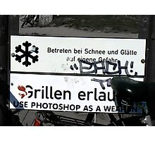use photoshop as a weapon Photographic Print