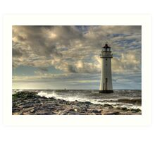 perch rock lighthouse Art Print
