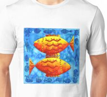 Two Fish Square Unisex T-Shirt