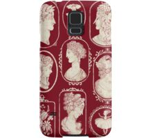 Cameos - red Samsung Galaxy Case/Skin