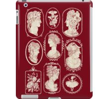 Cameos - red iPad Case/Skin
