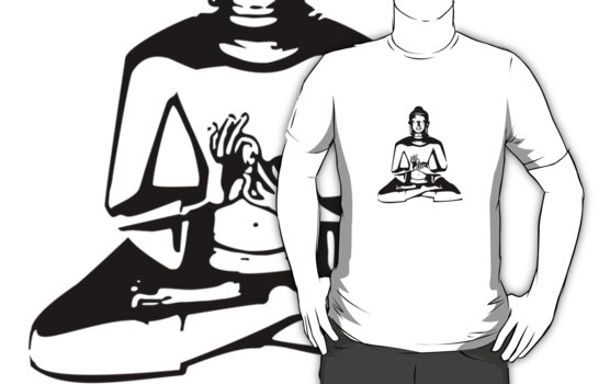 Buddha (Black Print) by rudeboyskunk
