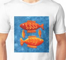 Two Big Fish and Two Small Fish Unisex T-Shirt