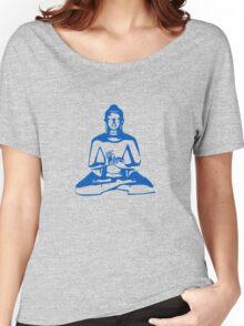 Buddha (Blue Print) Women's Relaxed Fit T-Shirt