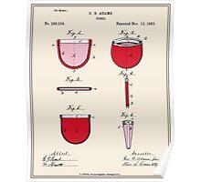 Purse Patent - Colour Poster