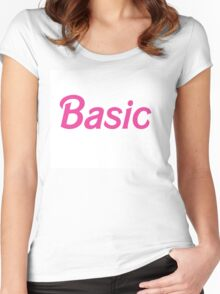 Basic Women's Fitted Scoop T-Shirt