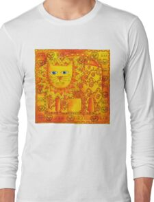 Patterned Lion Long Sleeve T-Shirt
