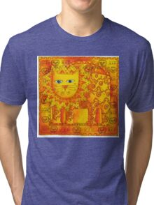 Patterned Lion Tri-blend T-Shirt