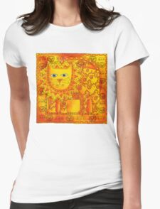 Patterned Lion Womens Fitted T-Shirt